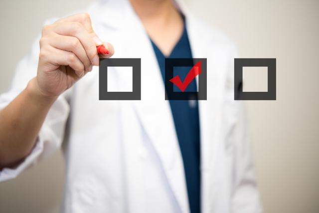 医者のチェック